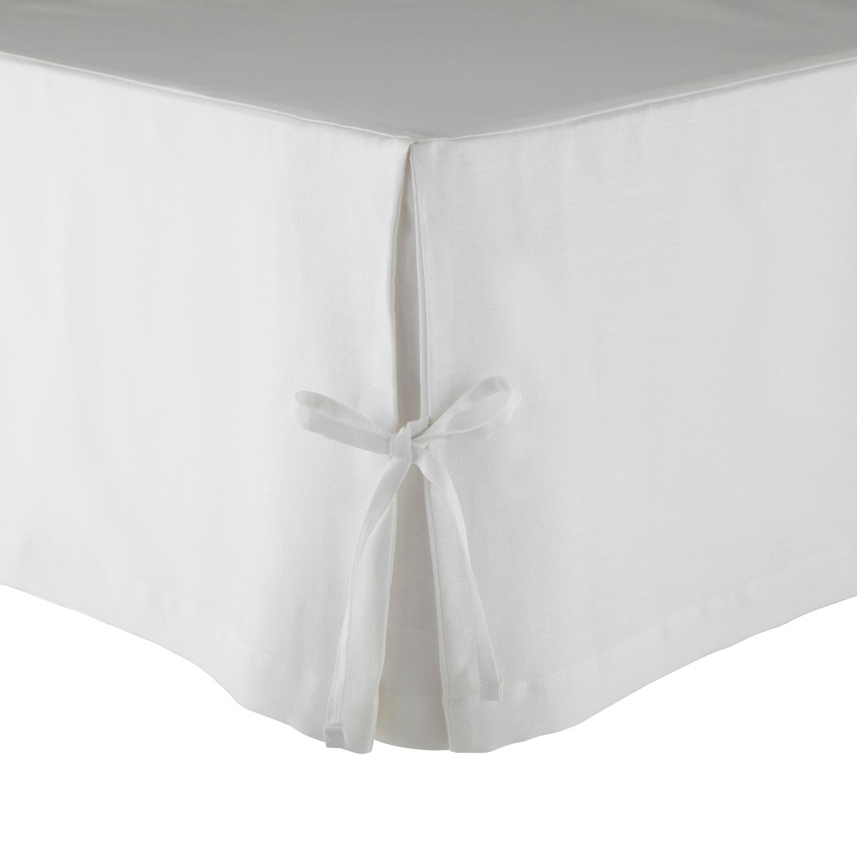 Cache sommier Lin Blanc 180 x 200 cm