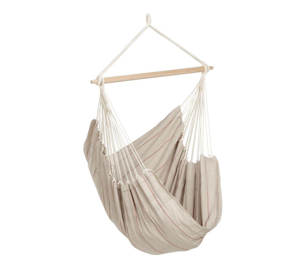Chaise hamac suspendu en coton sable