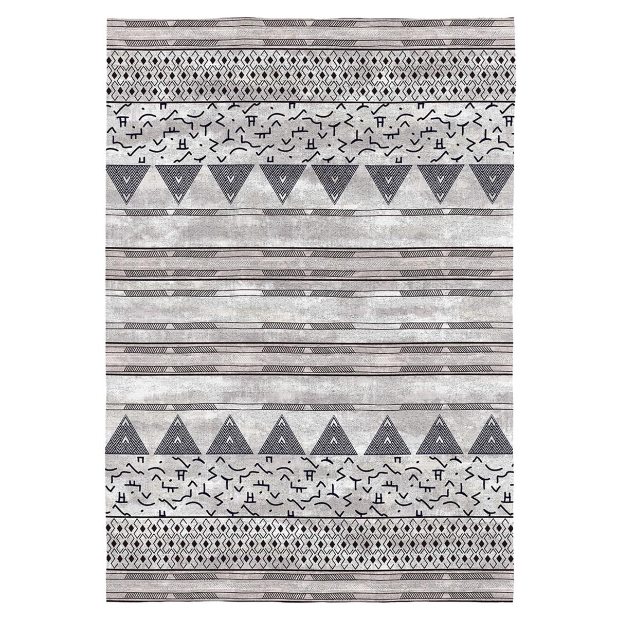 EVEREST - Tapis décoratif en coton en impression numérique 80x150