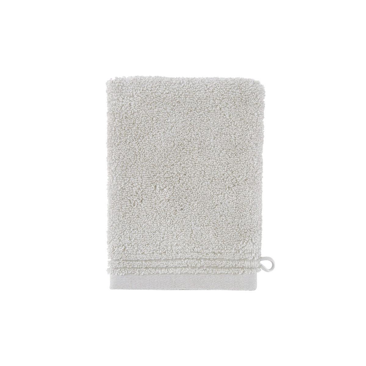 Gant de toilette coton peigné Gris 15 x 21 cm