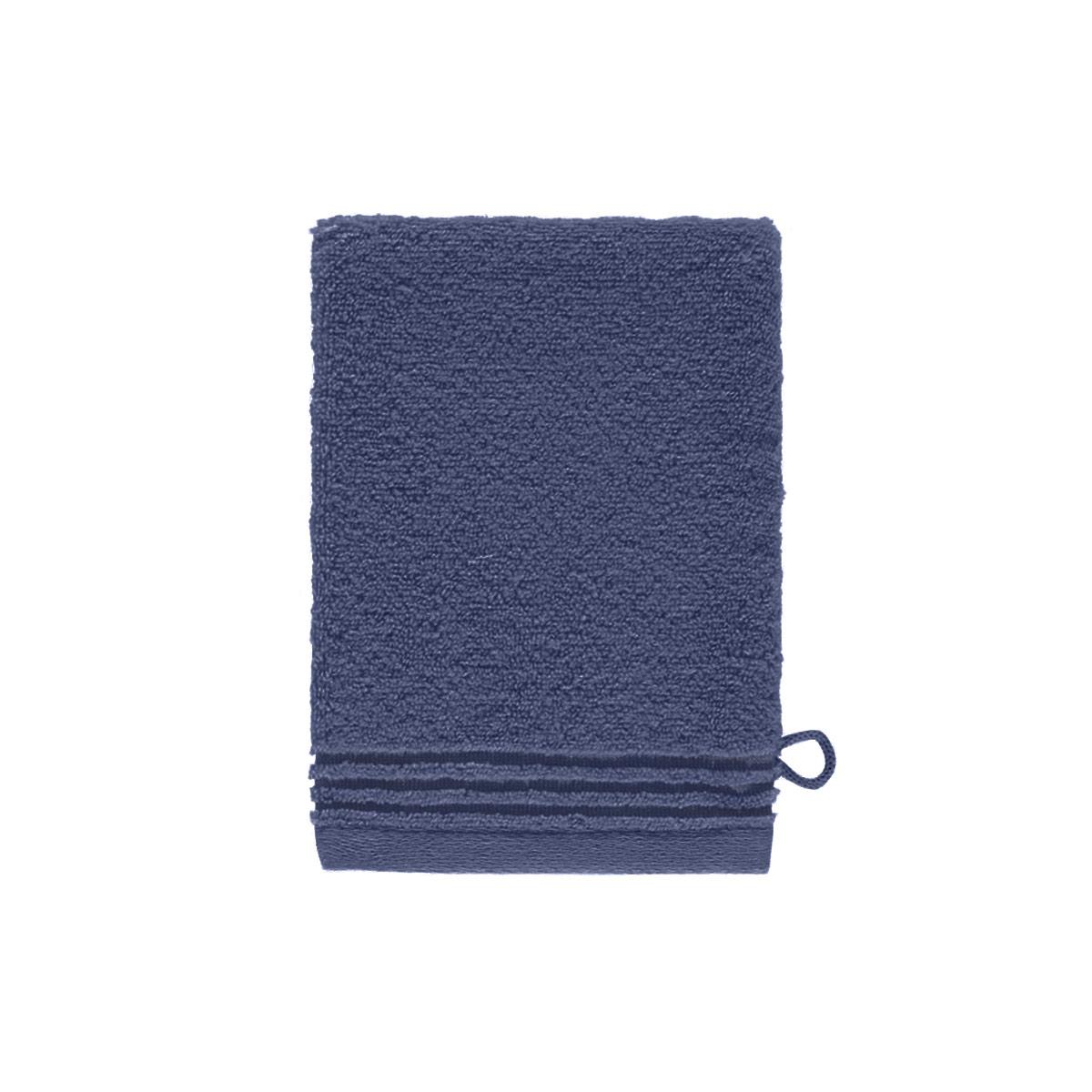 Gant de toilette coton peigné Bleu 15 x 21 cm