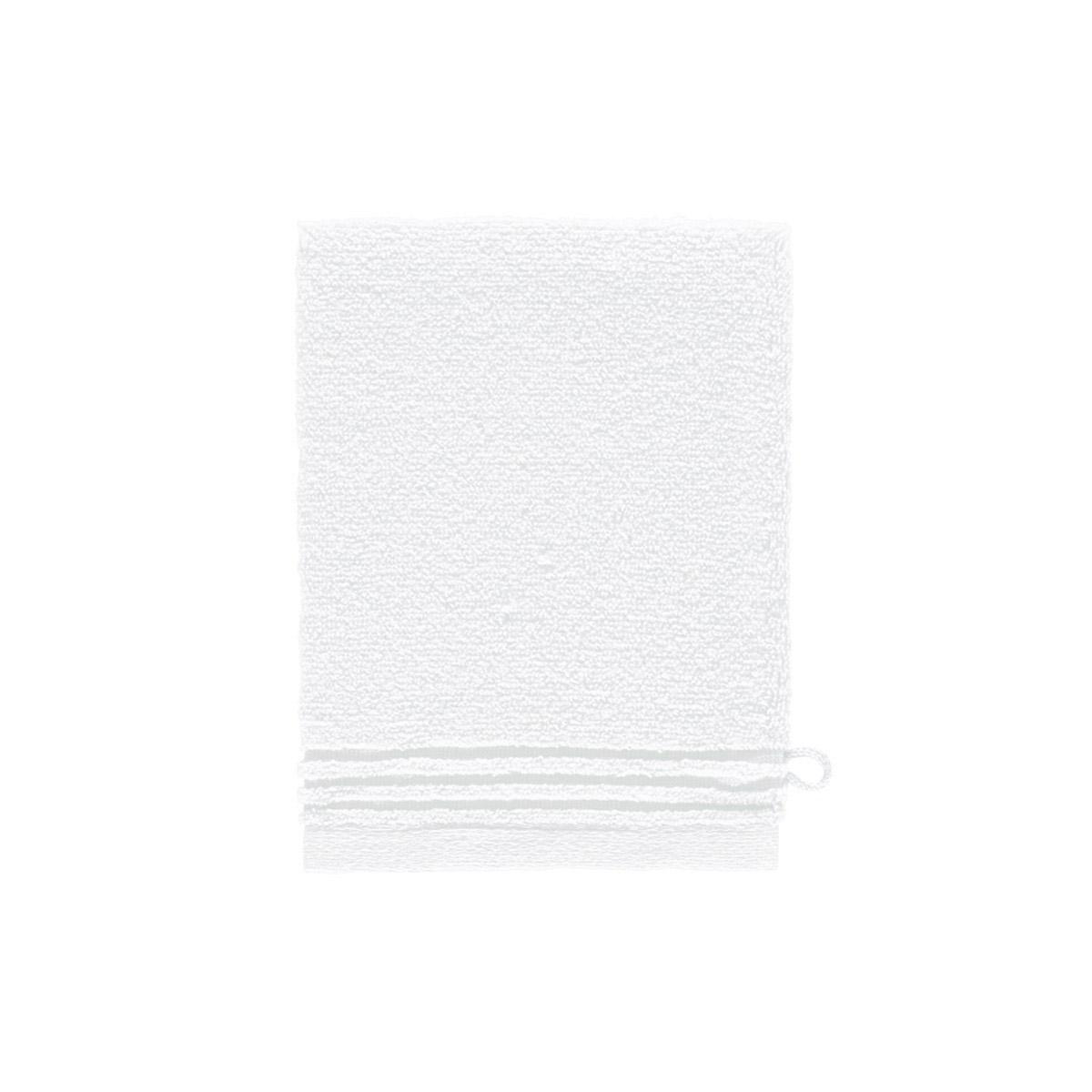 Gant de toilette coton peigné Blanc 15 x 21 cm