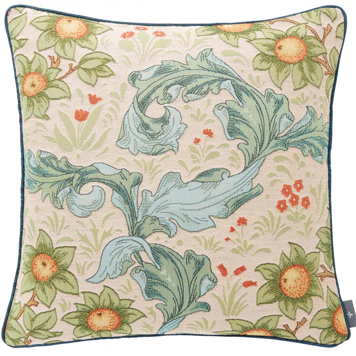 Coussin tapisserie oranger Beige 50 x 50