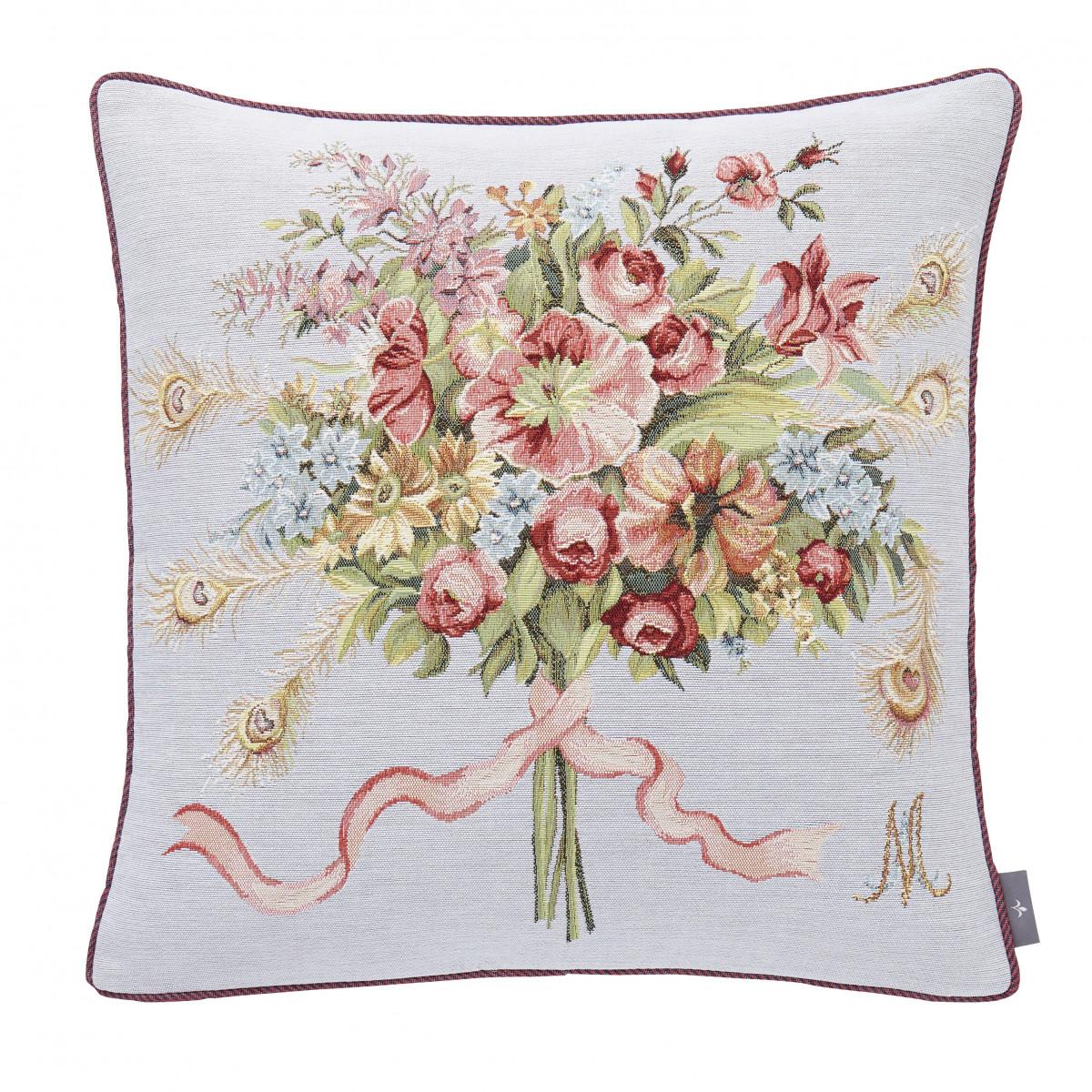Coussin marie Antoinette tissé Violet 50 x 50