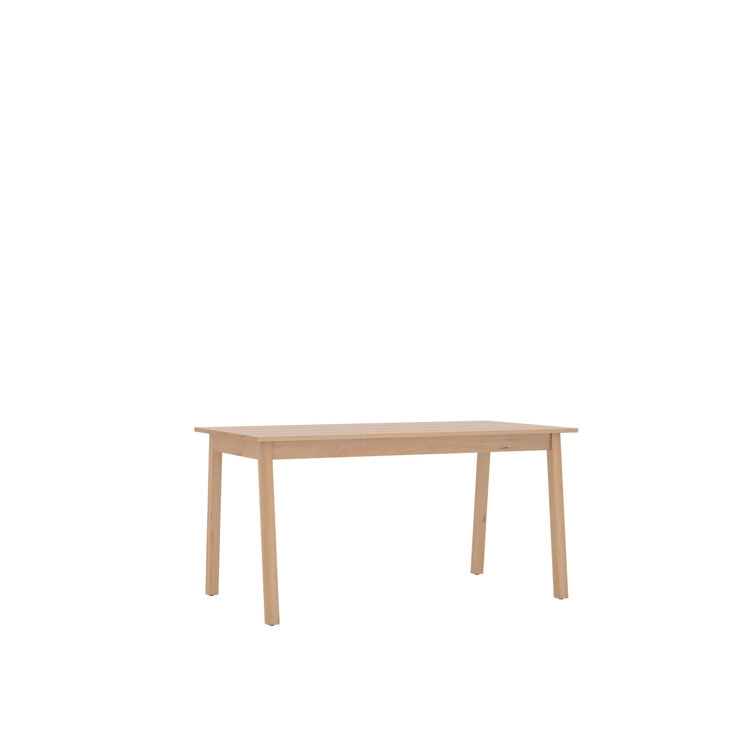 maison du monde Table en bois massif de hêtre des Pyrénées,  plateau 150x80 cm