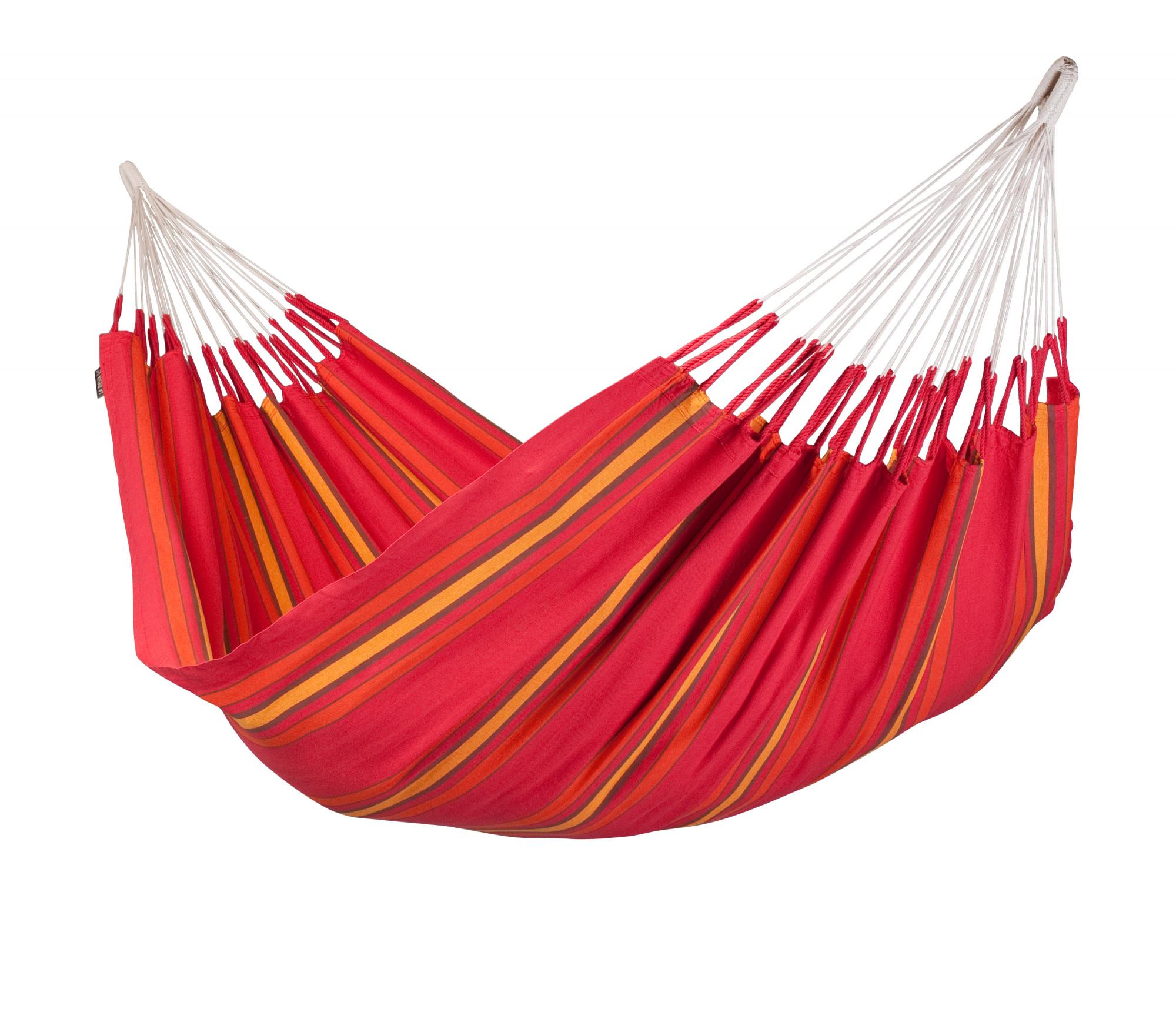 Hamac classique double en coton rouge