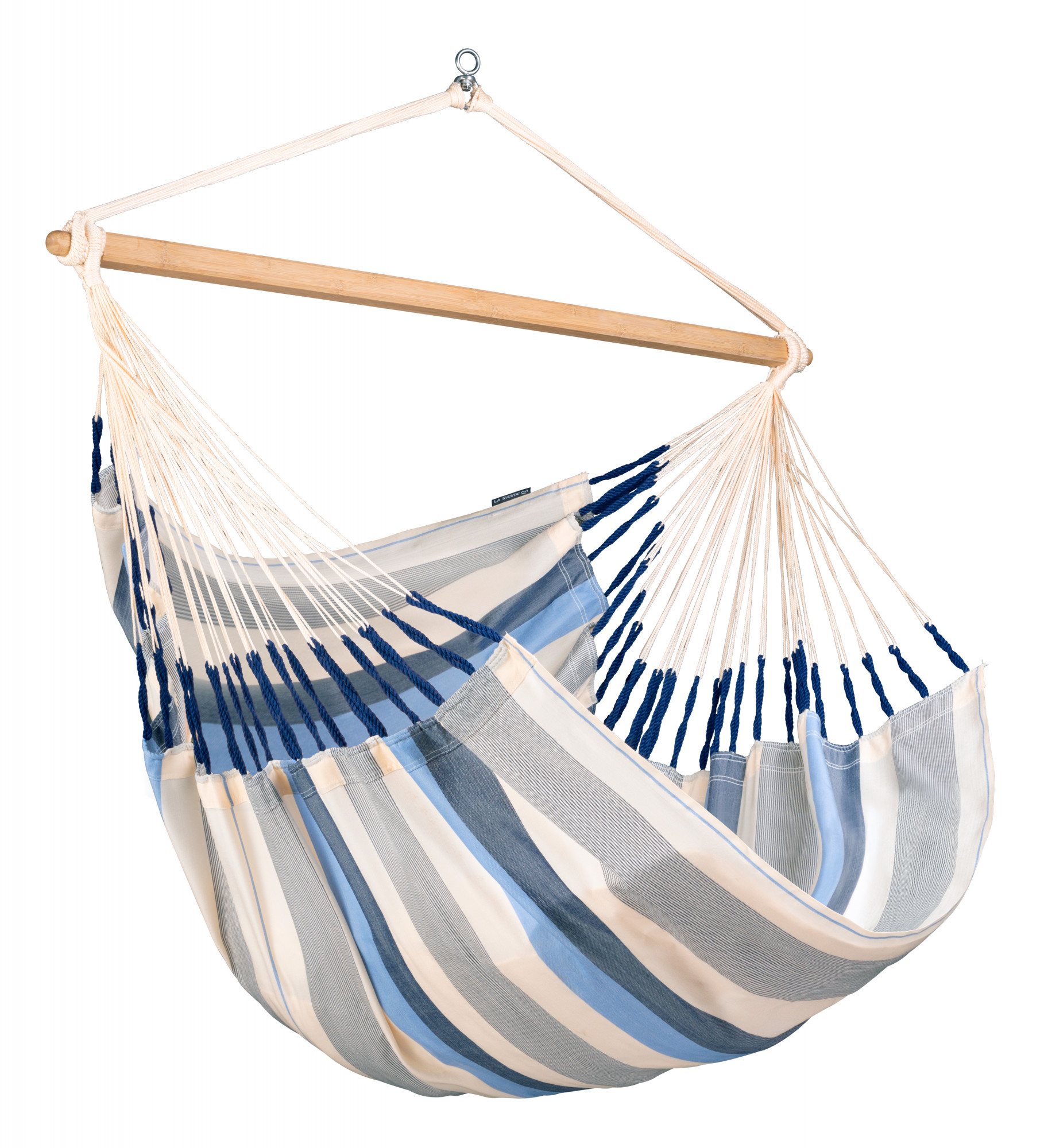 Chaise-hamac kingsize en tissu bleu clair