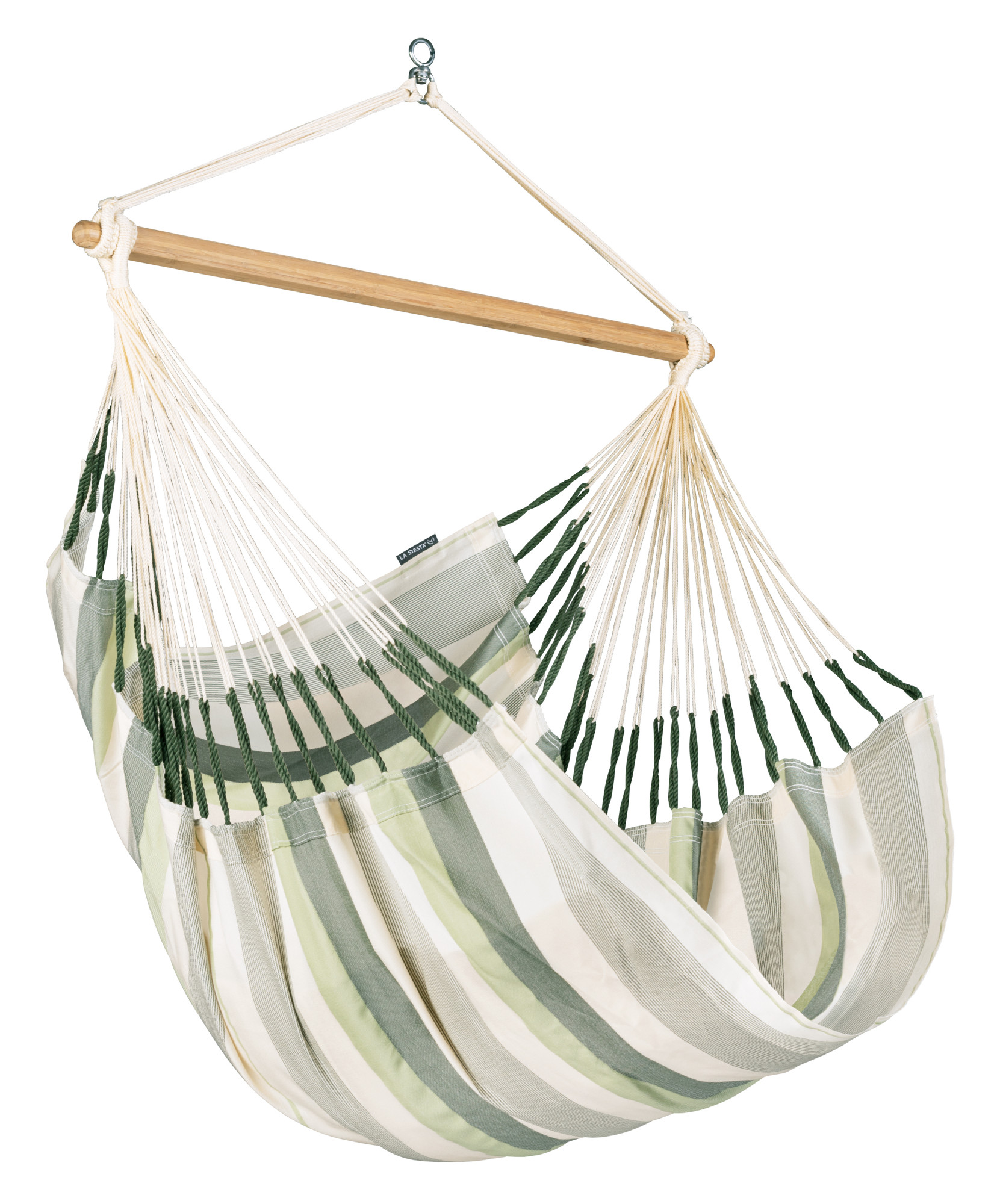 Chaise-hamac comfort en tissu vert clair