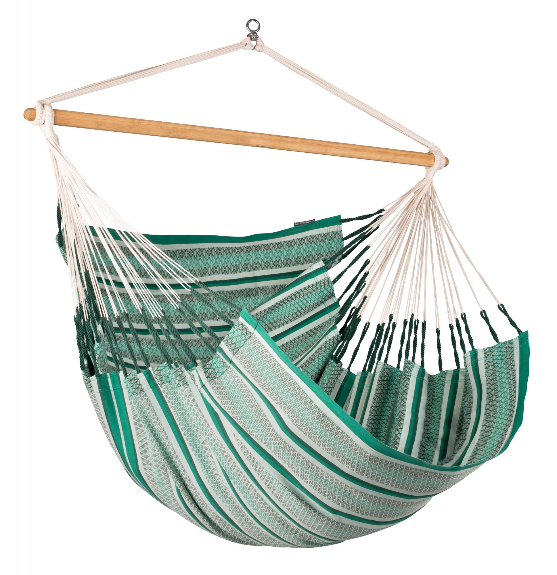Chaise-hamac kingsize en coton bio vert