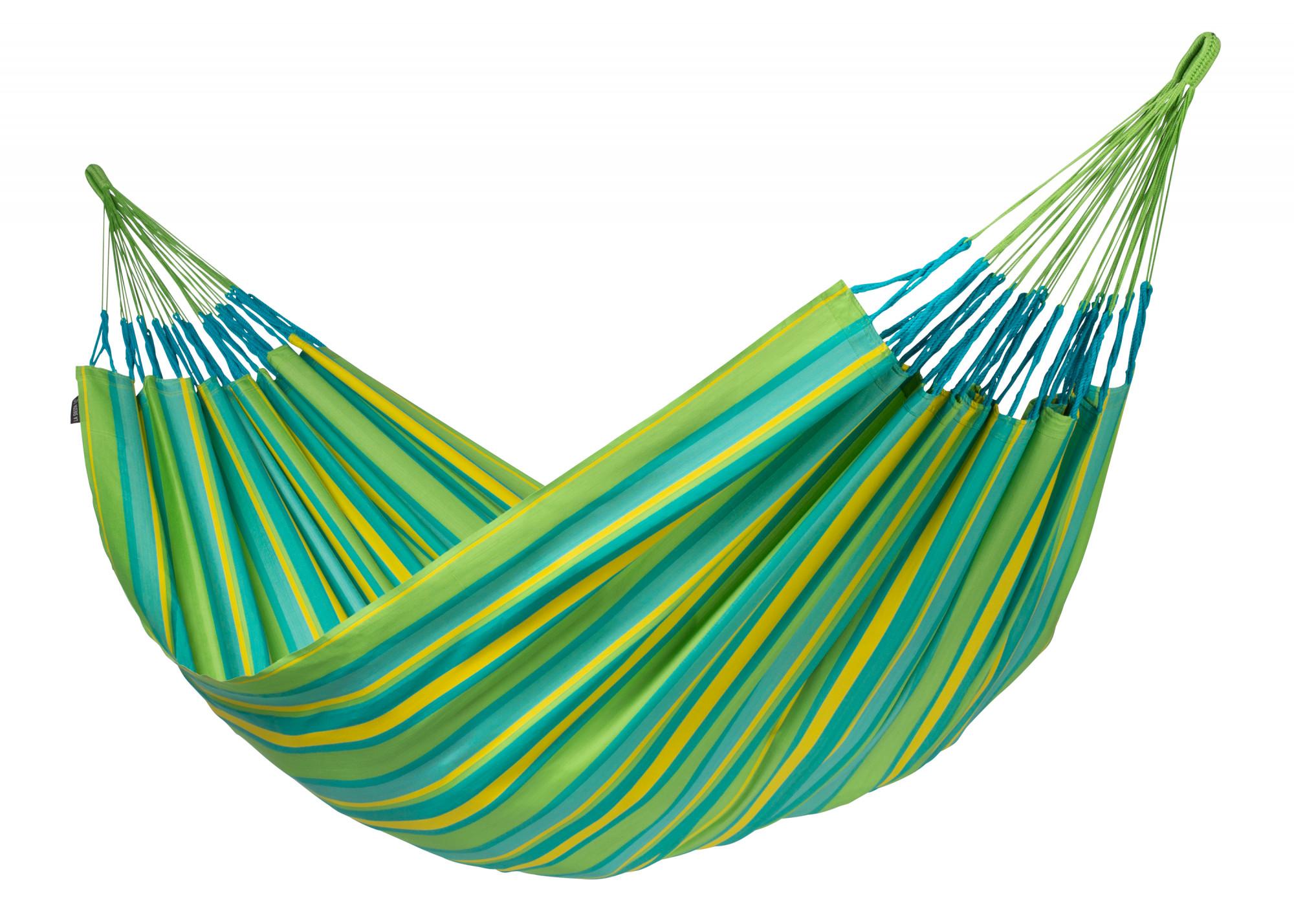 Hamac classique kingsize en tissu vert citron