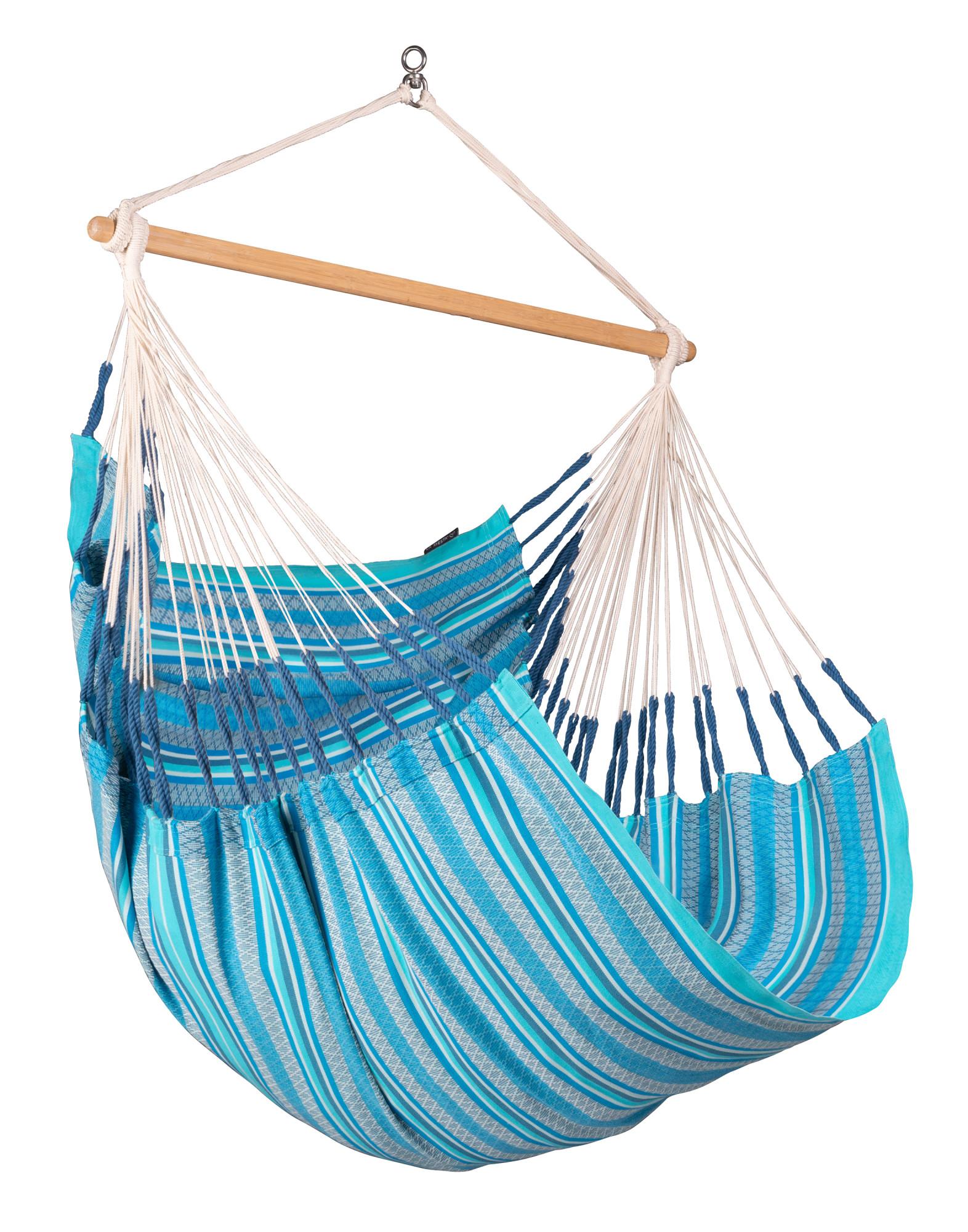 Chaise-hamac comfort en coton bio bleu