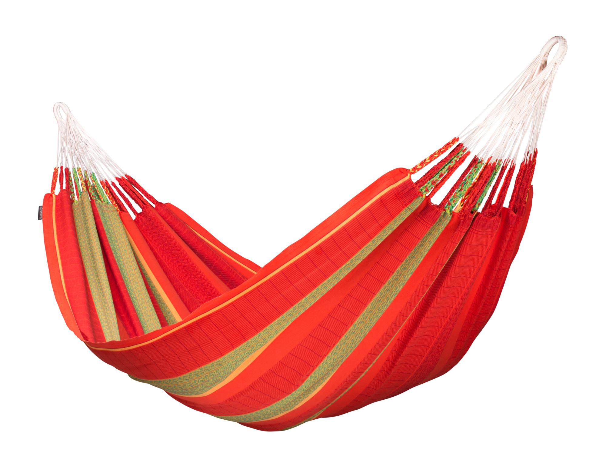 Hamac classique kingsize en coton bio rouge