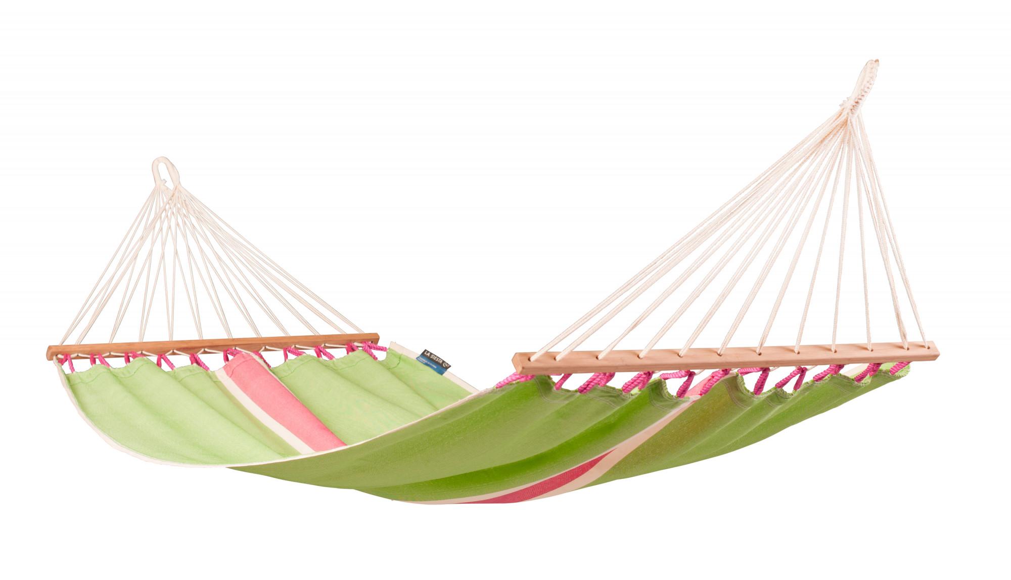 Hamac à barres simple en tissu vert