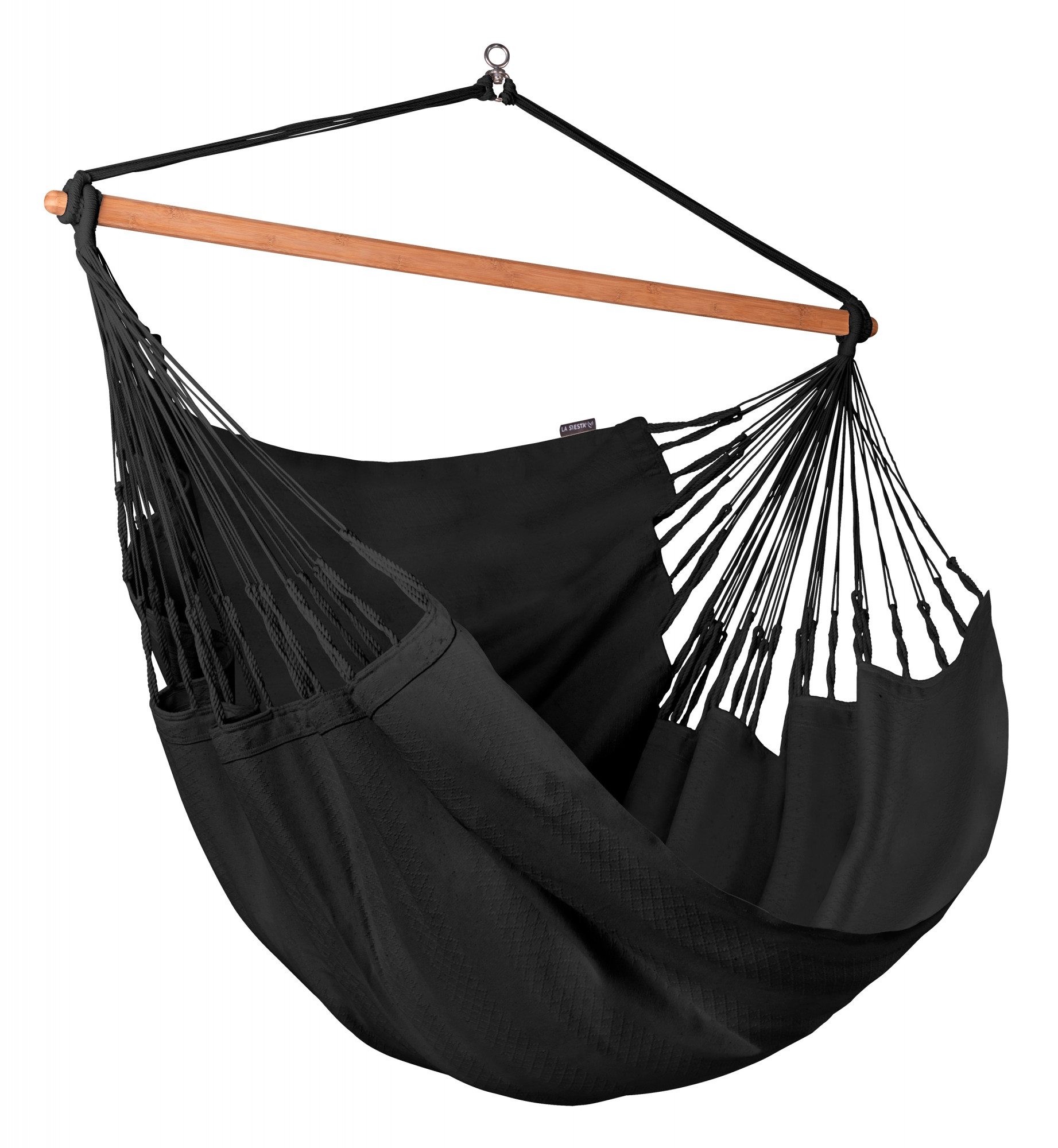 Chaise-hamac kingsize en coton bio noir