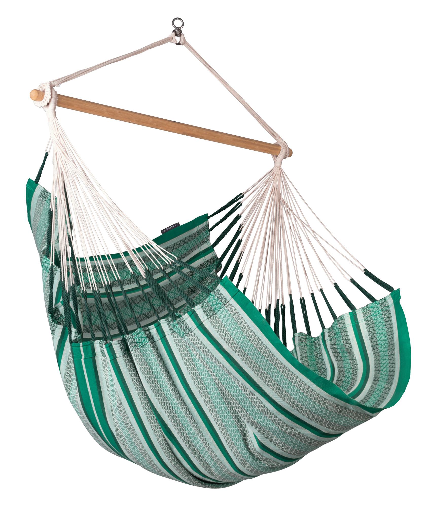 Chaise-hamac comfort en coton bio vert