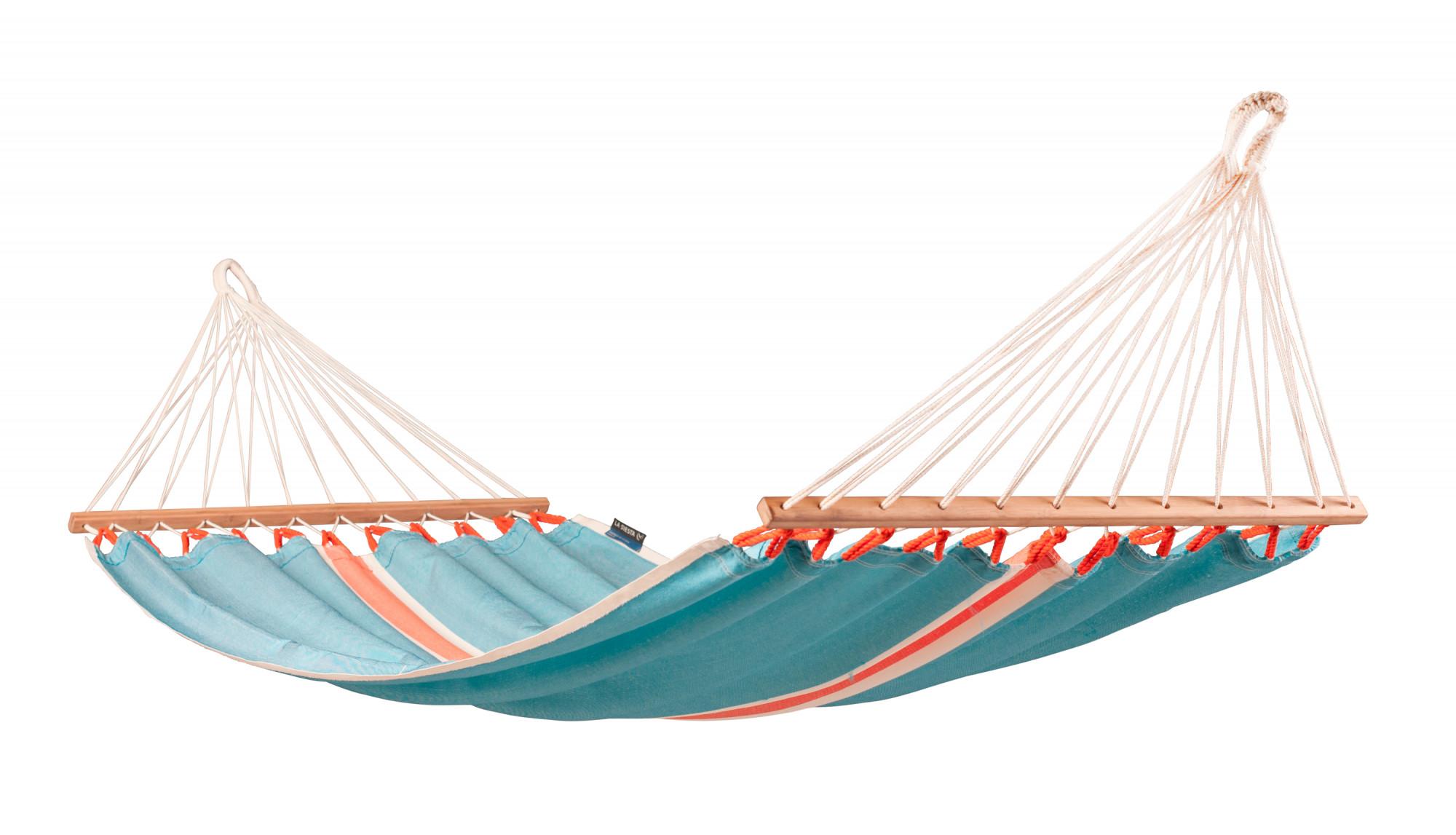 Hamac à barres simple en tissu bleu