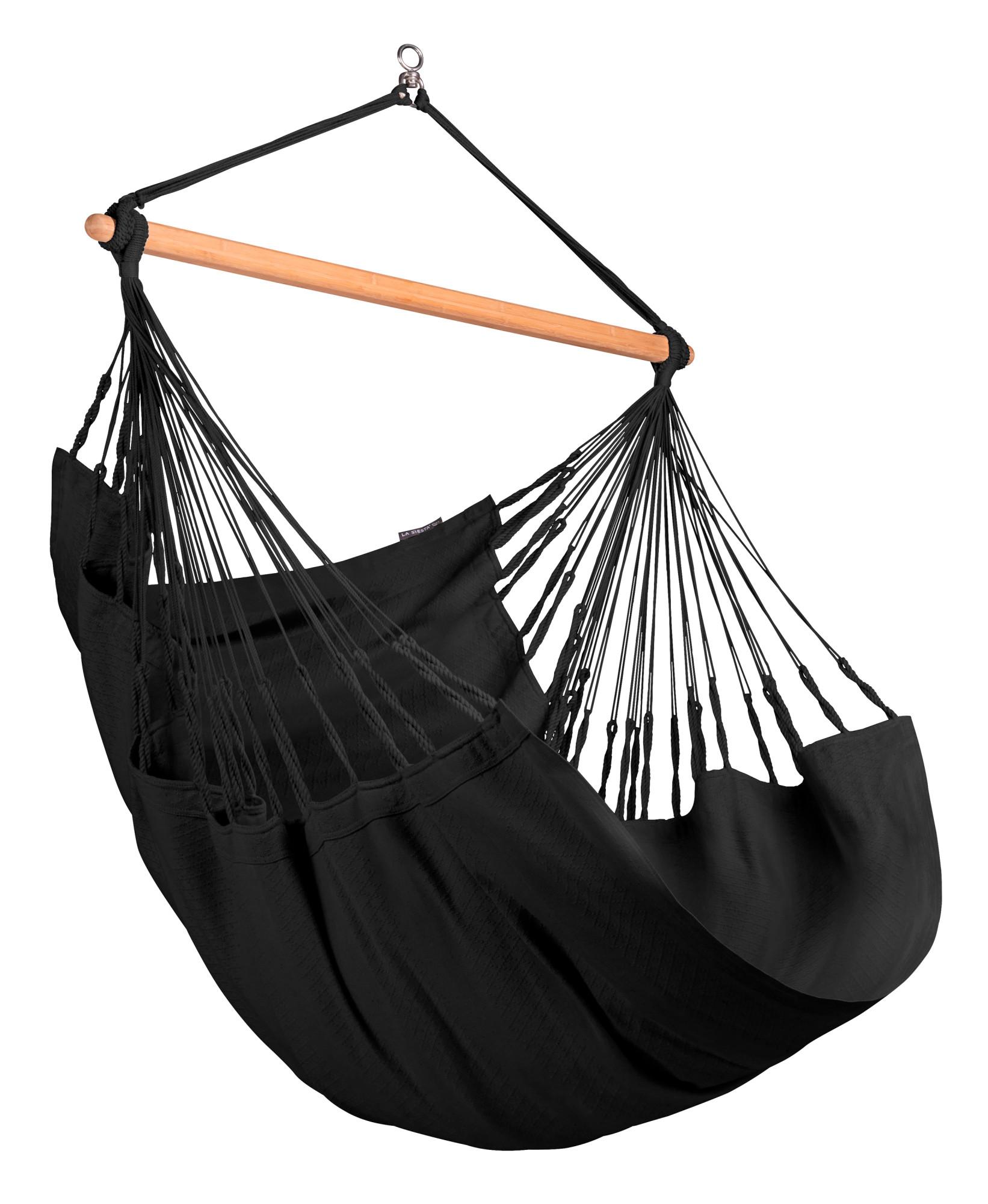 Chaise-hamac comfort en coton bio noir