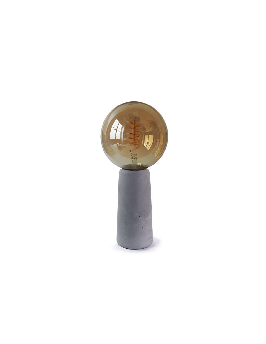 Lampe à poser en béton avec ampoule style Edison