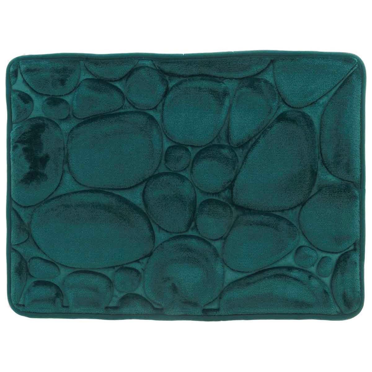 GALETS - Tapis de bain mémoire de forme  Petrol 43x61 cm