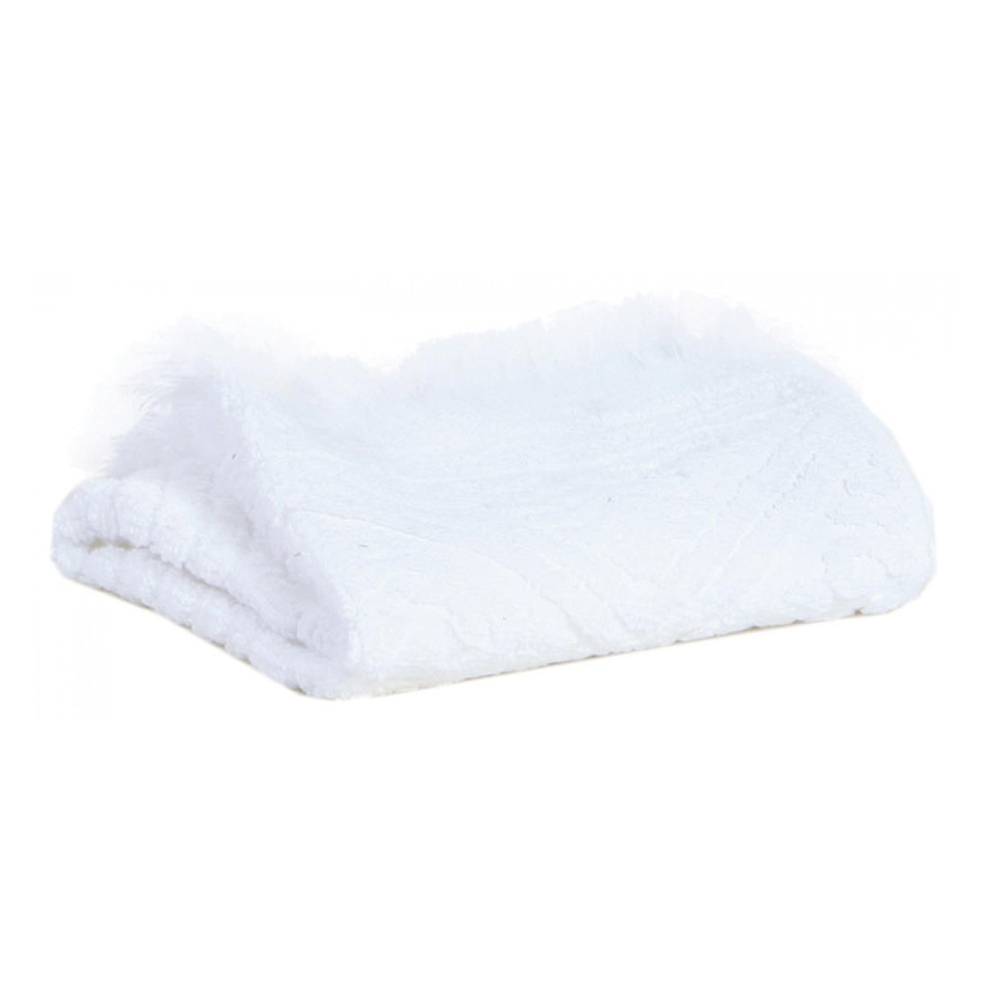 Drap de douche Zoé en coton neige 70 x 140