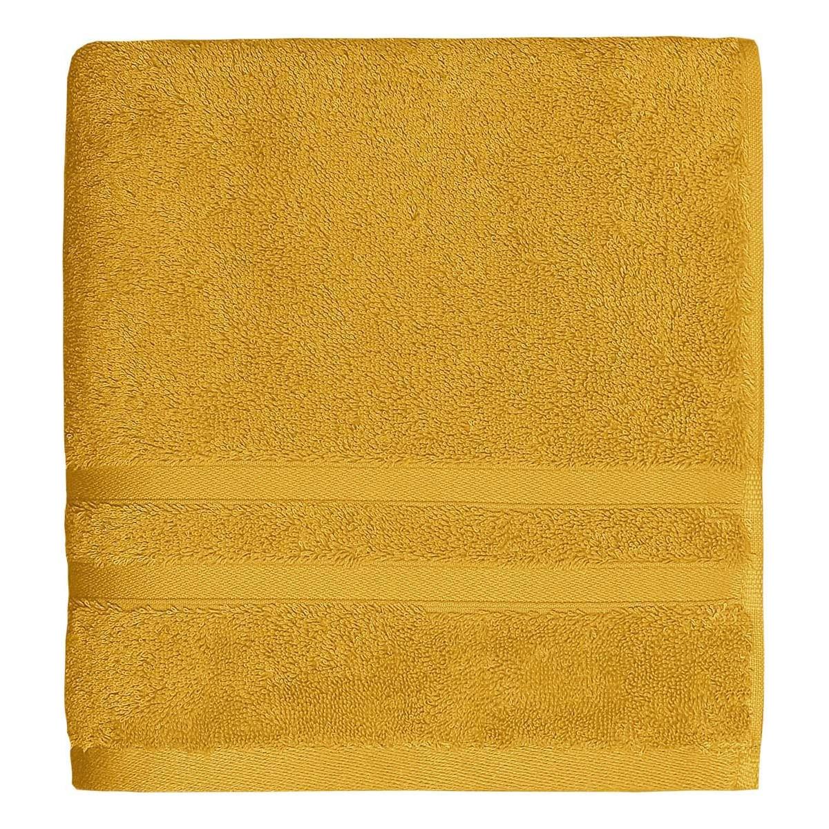 Serviette de bain 600gr/m² coton peigné/ Safran 70x140