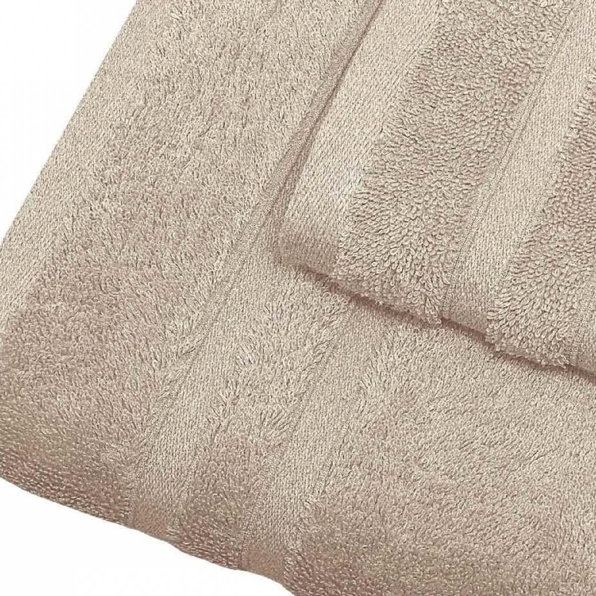 Serviette de bain 600gr/m² coton peigné/ Sable 70x140