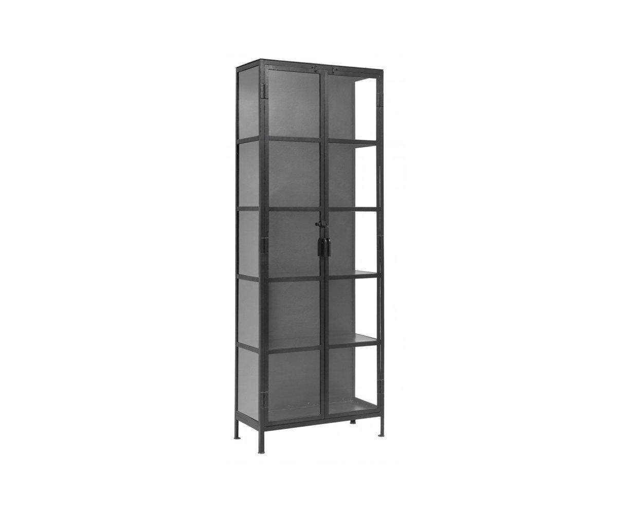 Vitrine colonne métal style moderne - Nordal