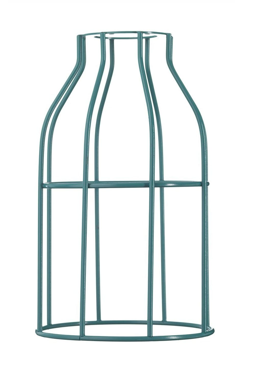 Abat-jour pour suspension en acier laqué turquoise