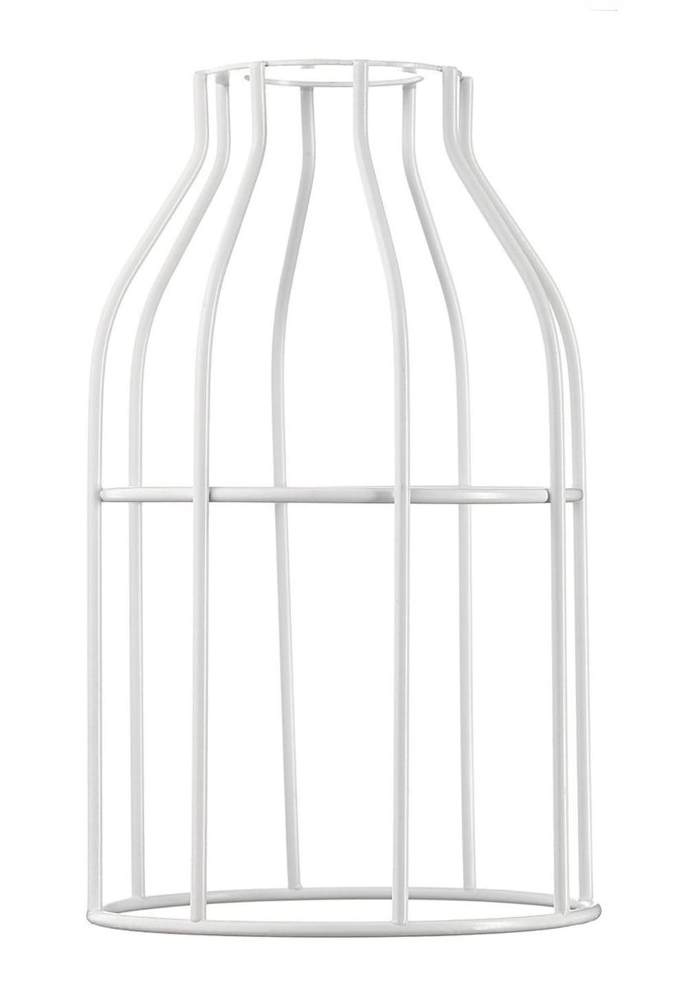 Abat-jour pour suspension en acier laqué blanc