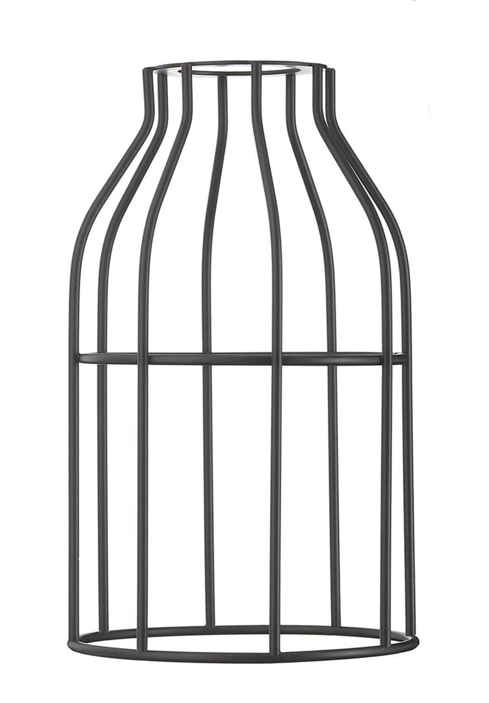 Abat-jour pour suspension en acier laqué noir
