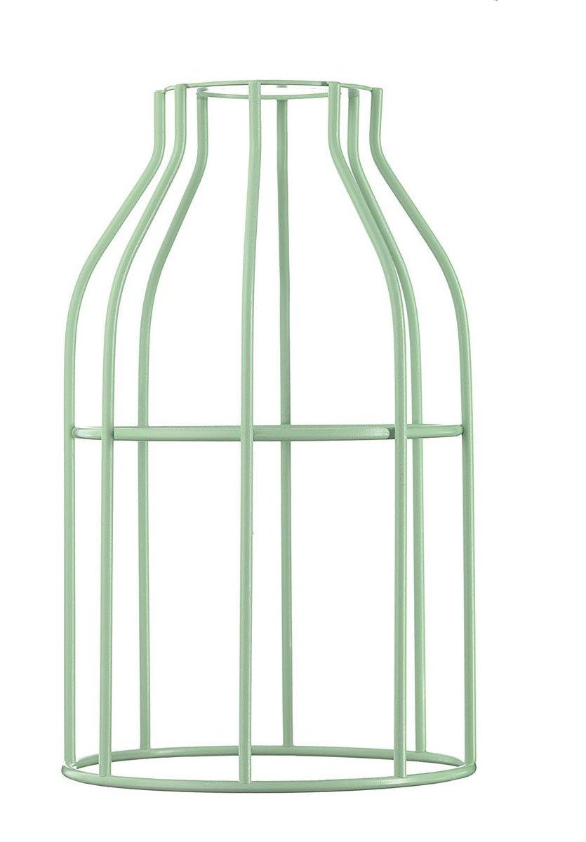 Abat-jour pour suspension en acier laqué vert menthe