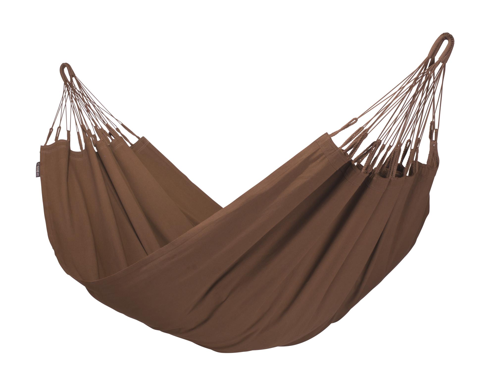 Hamac classique simple en coton bio marron