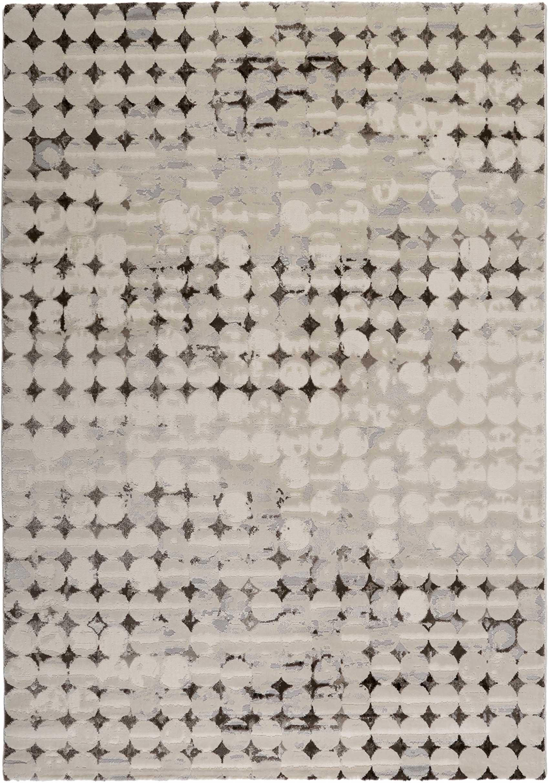 Tapis vintage relief beige/marron/gris pour salon, chambre 170x120