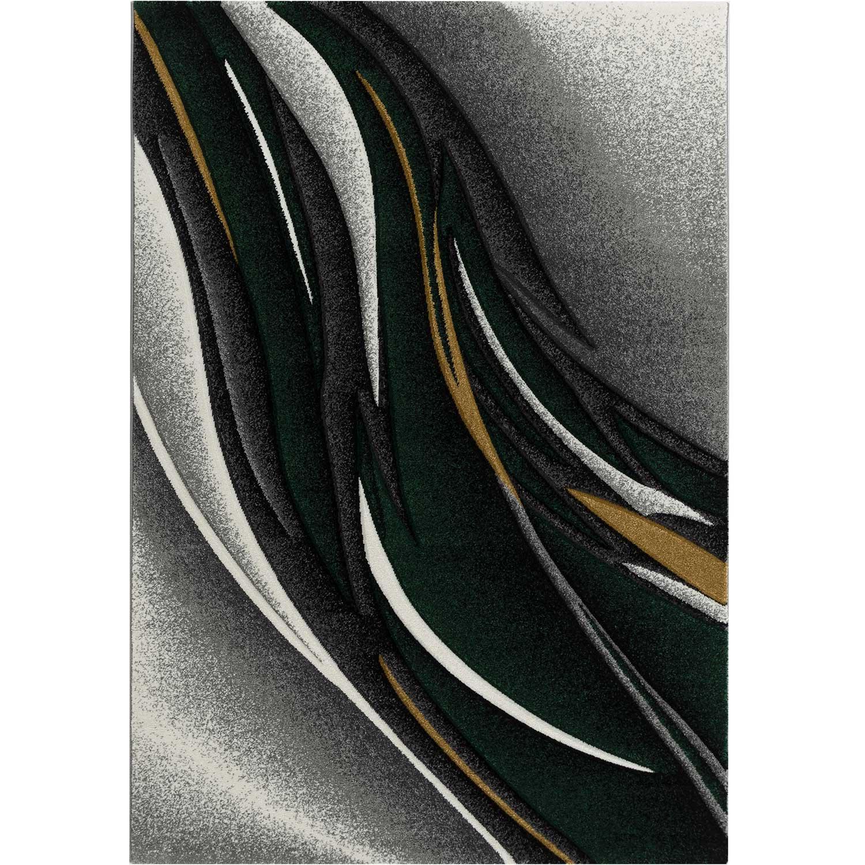 KOSTO - Tapis graphique carving vert 80x150cm