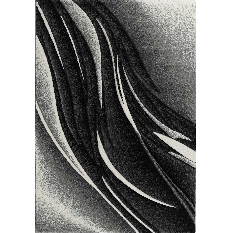 KOSTO - Tapis graphique carving gris 200x280cm