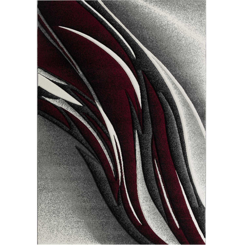 KOSTO - Tapis graphique carving rouge 160x230cm