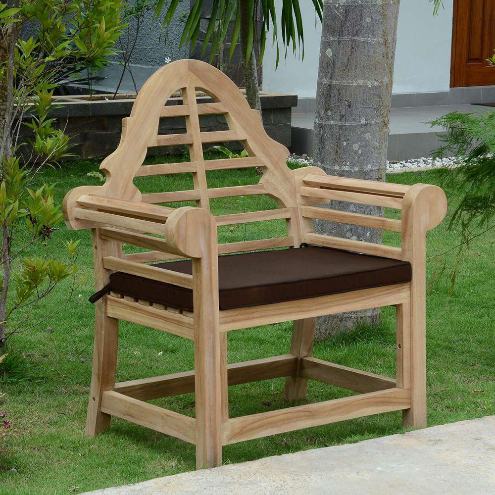 Coussin Chocolat pour fauteuil