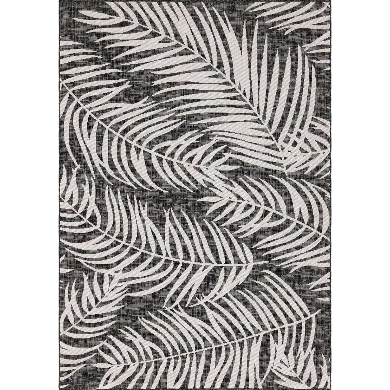 MOA - Tapis extérieur/intérieur graphique noir 160x230cm