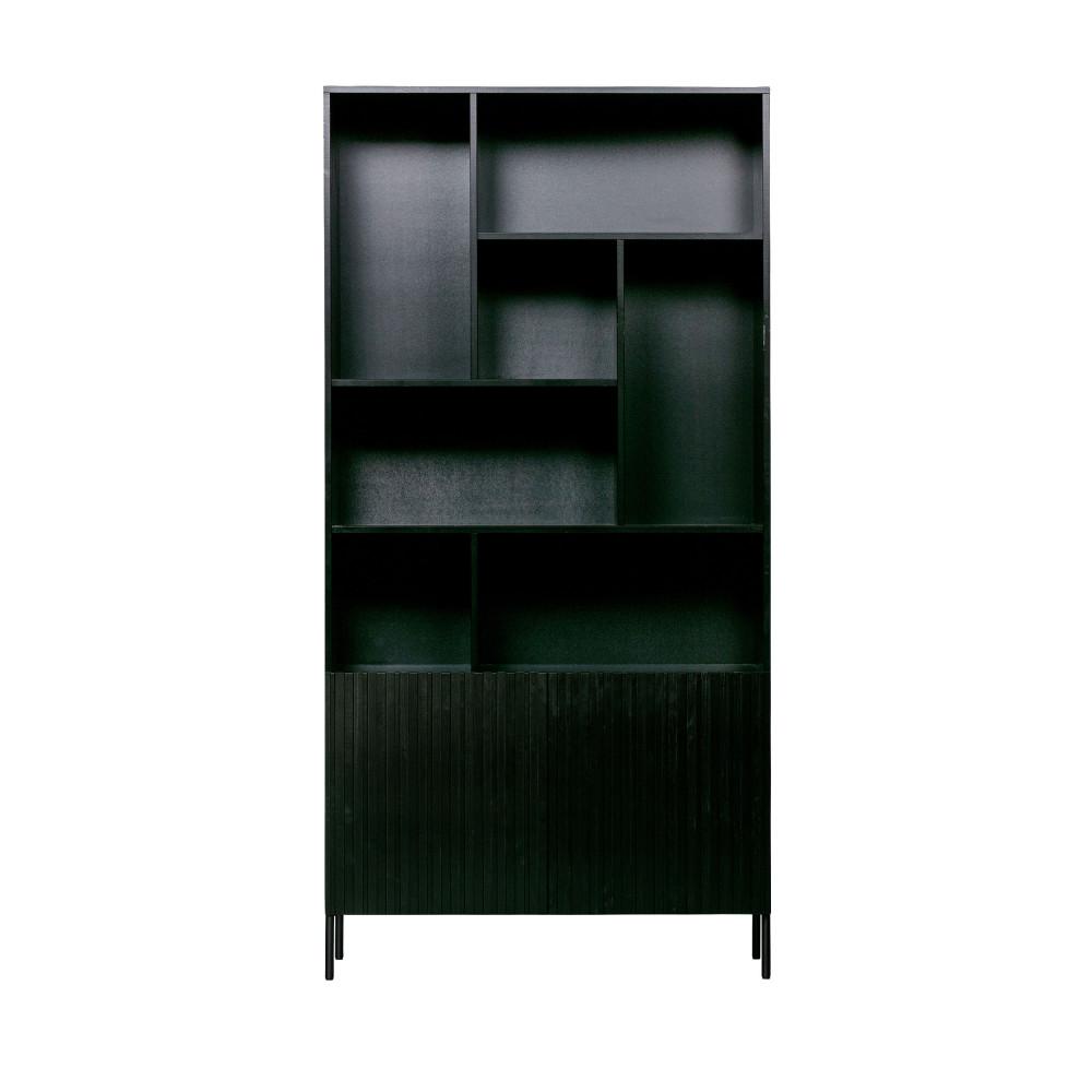 Armoire en bois noir (photo)