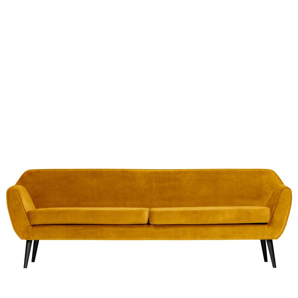 Canapé droit 4 places Velours Design Confort
