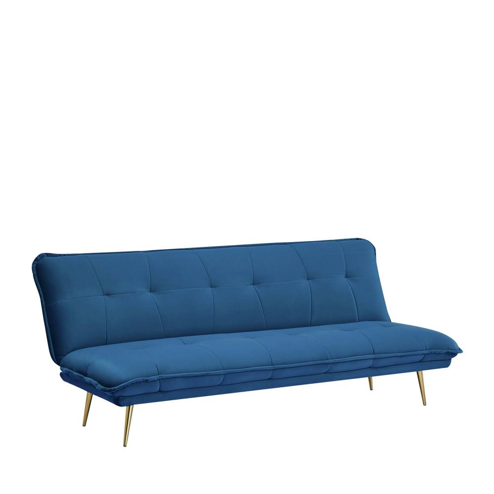 Canapé convertible en velours bleu marine