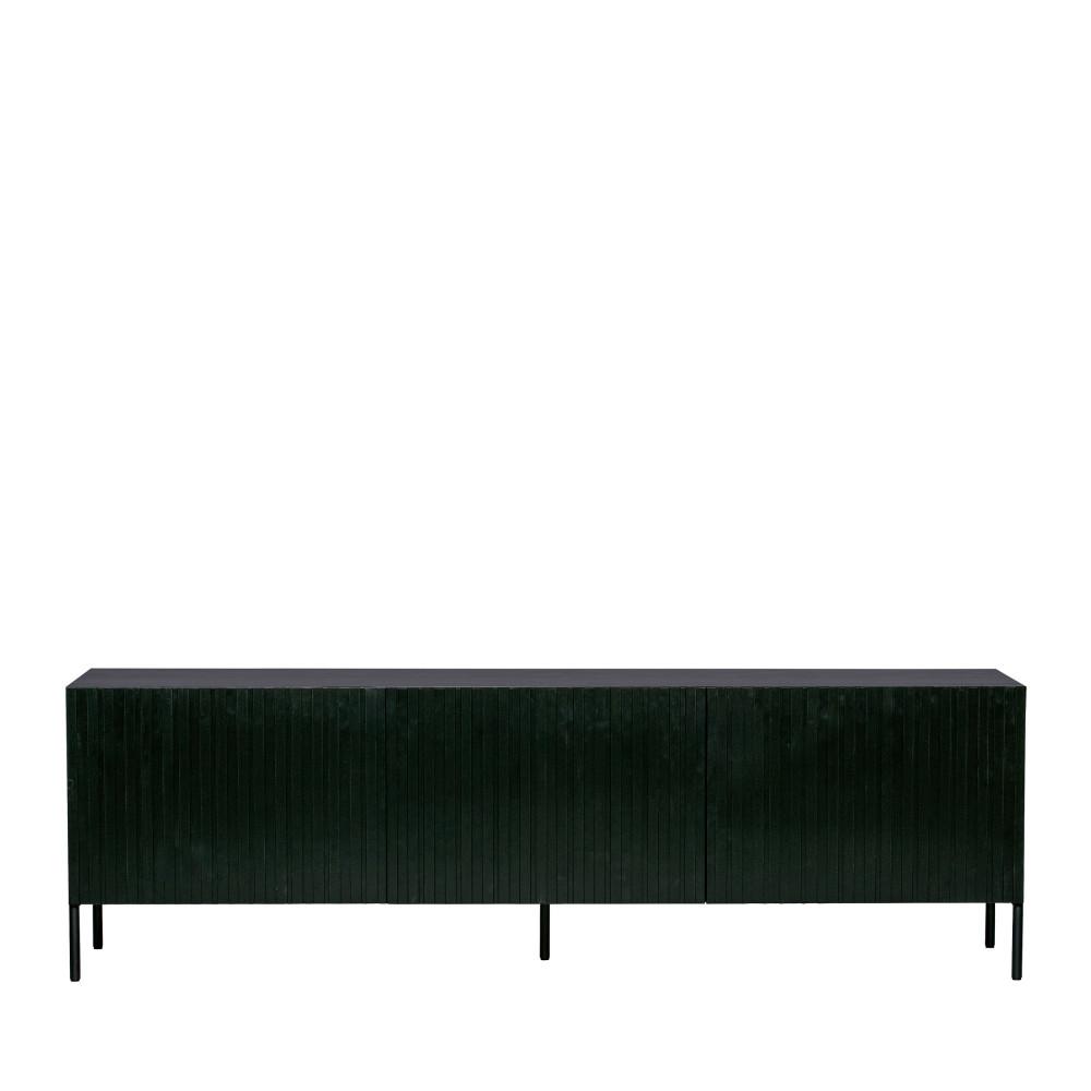 Meuble TV 3 portes en bois noir