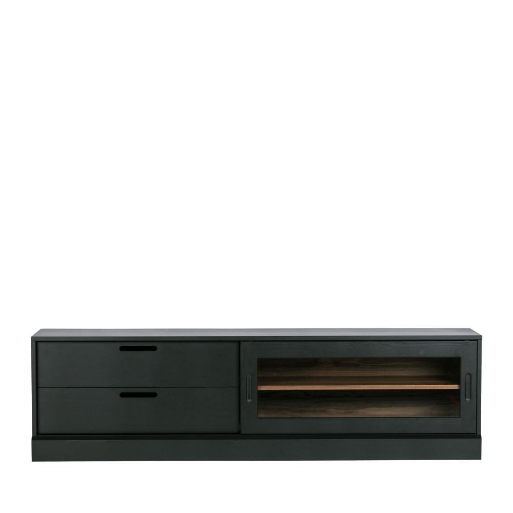 Meuble TV en bois noir