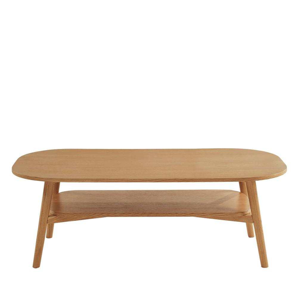 Table basse vintage en bois 120x60 cm bois clair