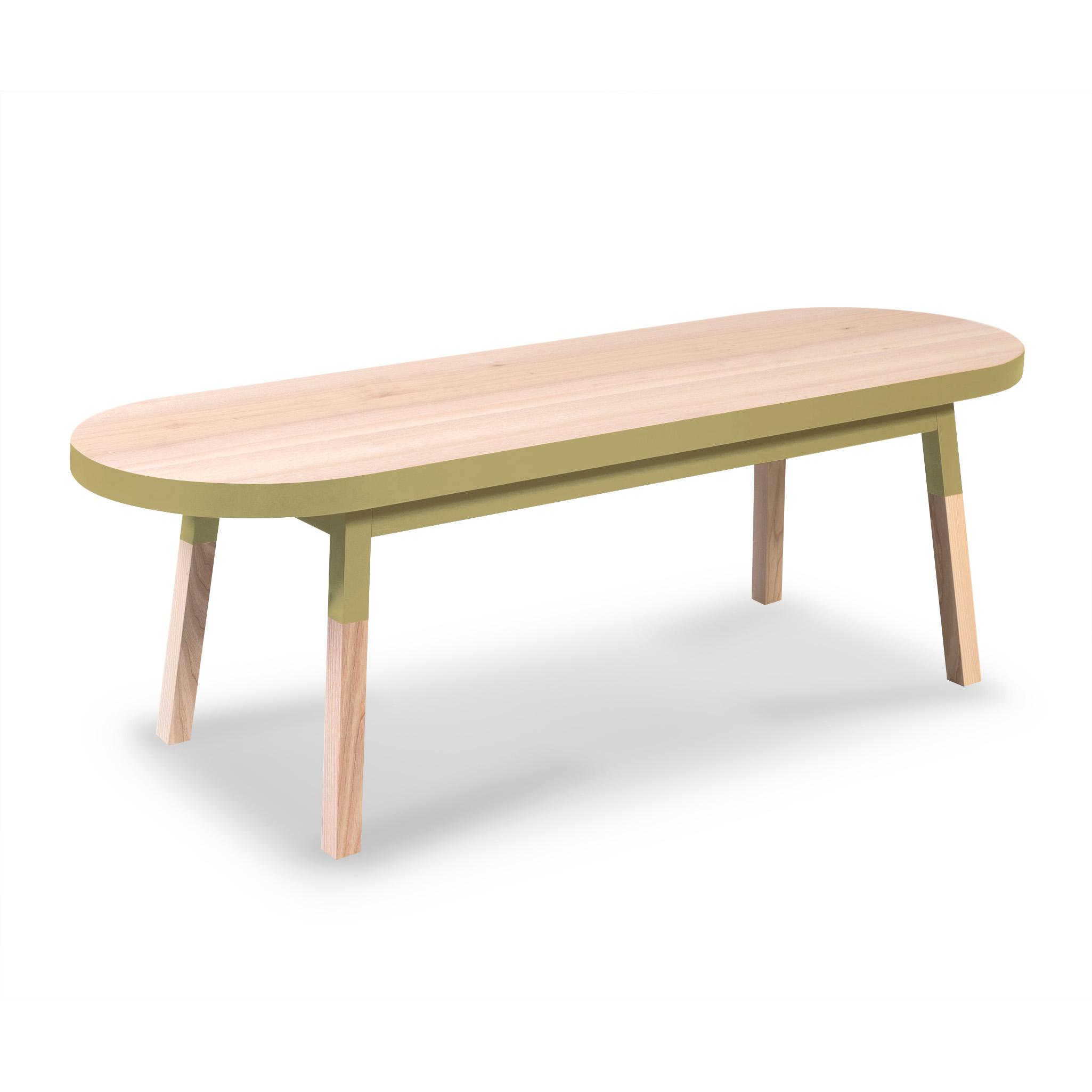 maison du monde Table basse banc - 140 cm  - jaune lunaire