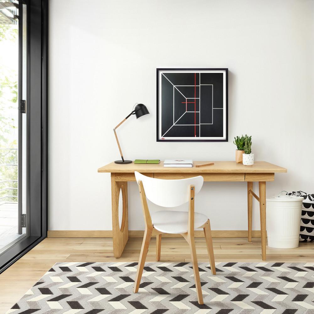 Bureau design en bois chêne