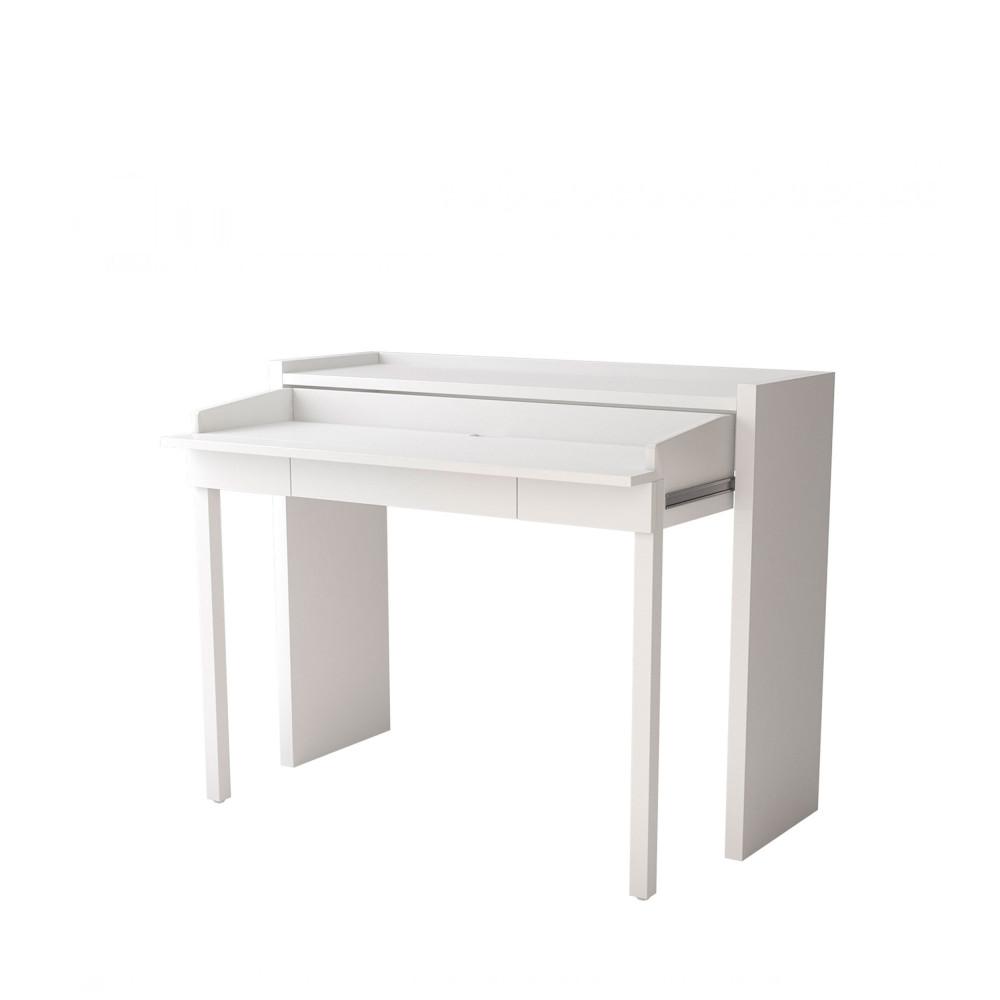 Console bureau extensible 16 MEL blanc