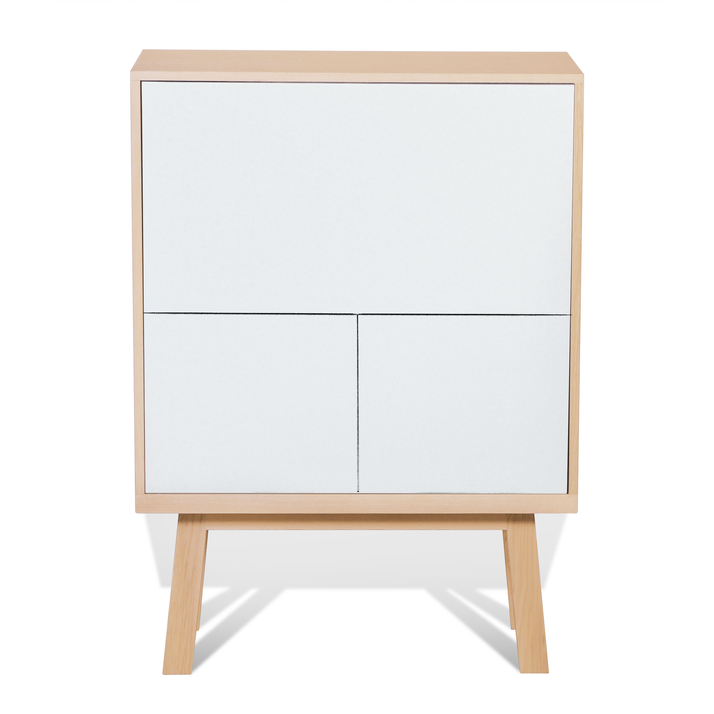 maison du monde Bureau secrétaire en bois blanc balisson
