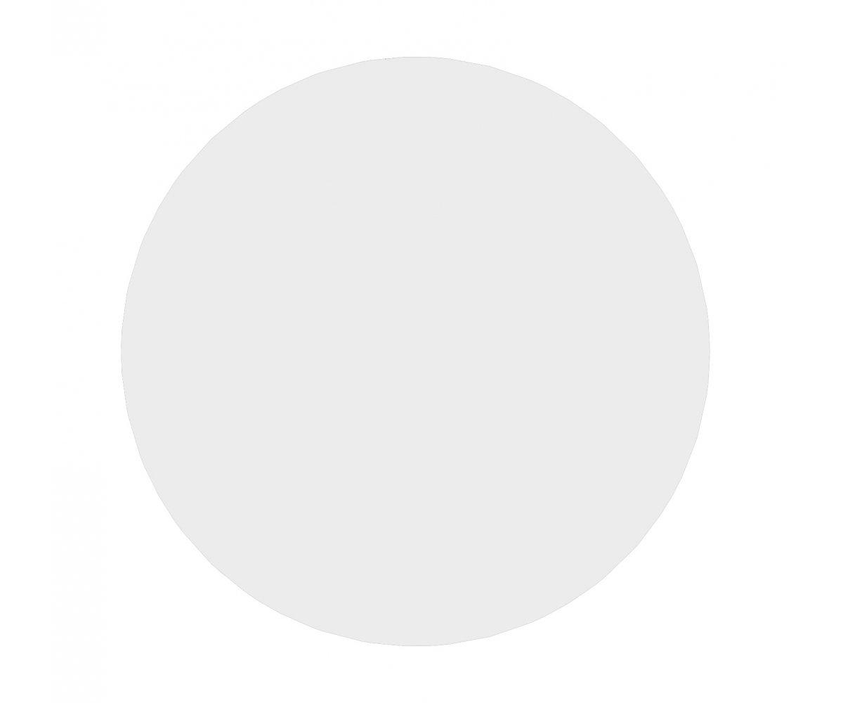 Table à manger ronde 110cm en bois Blanc