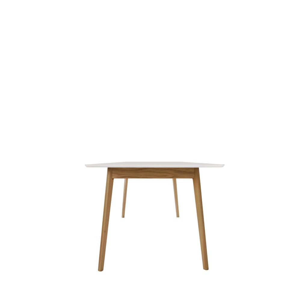 Table à manger extensible 150-200x80cm blanc chêne